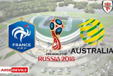 France Vs Australia, FIFA World Cup 2018, Russia, France, Australia