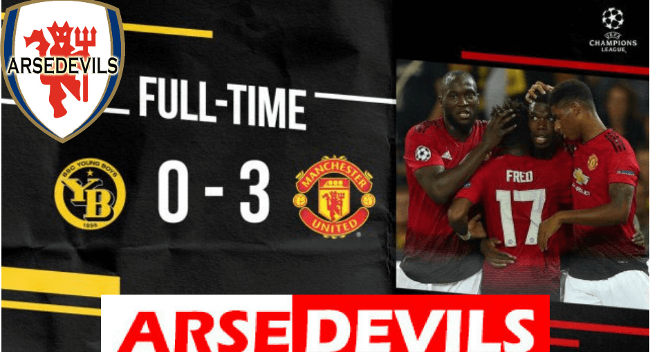 Manchester United beat Young boys 3-0 in their opening Champions League game of the season.