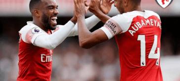 Aubameyang Lacazette Arsenal