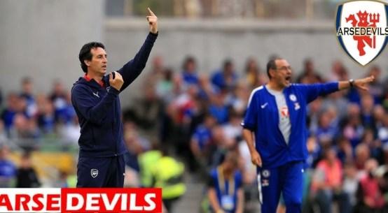Arsenal, Chelsea, manager. Europa League final