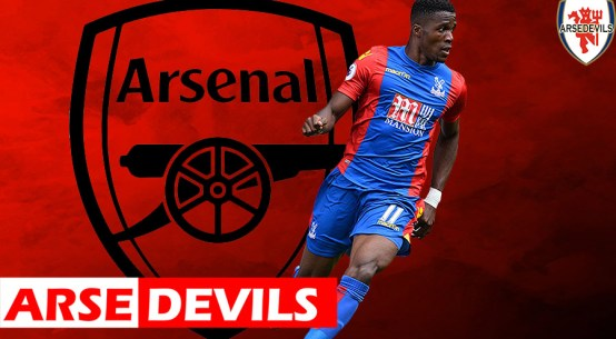 Wilfred Zaha, Zaha linked to Arsenal, Zaha transfer request