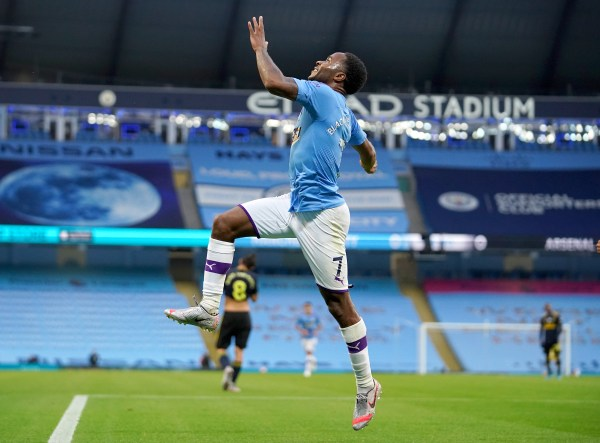Man City vs Arsenal, City v Arsenal, Raheem Sterling