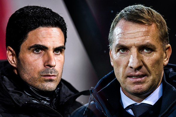 Arsenal vs Leicester, Arteta, Rodgers