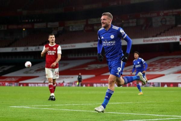 Arsenal v Leicester, Jamie Vardy