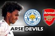 Leicester vs Arsenal, Willian