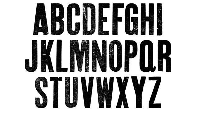 Download Vintage Letterpress Fonts Condensed Texture Pack