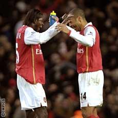 Henry and Adebayor do their ridiculous dance