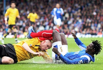 There was no lack of intensity between Arsenal and Portsmouth