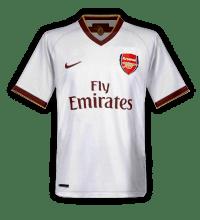 The supposed Arsenal white away kit