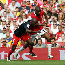 Diaby was outstanding when deployed centrally against PSG