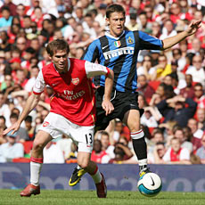 Hleb was superb for Arsenal playing in a central role