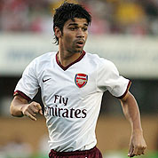 New signing Eduardo made his Arsenal debut against Genclerbirligi