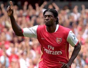 Emmanuel Adebayor got Arsenal off to the perfect start