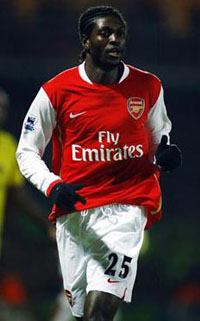 Adebayor usually plays well against Tottenham