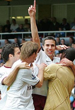 Robin van Persie's header proved the match-winner