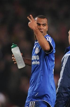 Ashley Cole lets out his frustration after the whistle