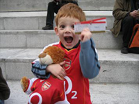 Have you seen a happier Arsenal supporter?!