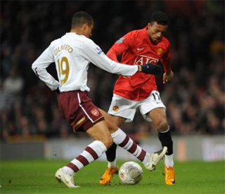 Gilberto Silva lack of speed was again shown up against United