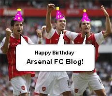 The Arsenal FC Blog is 1 today!