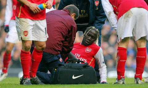 The injury to Sagna was the turning point in the match