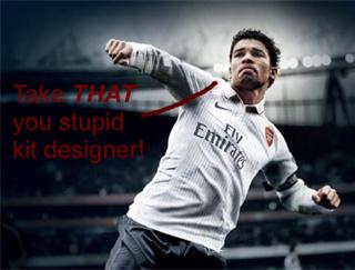 Eduardo doesn't like the new Arsenal kit