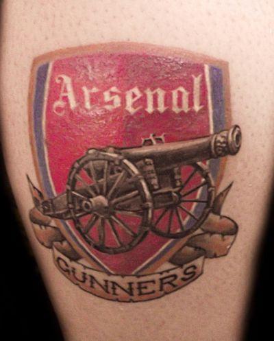 Arsenal Tattoos Calf