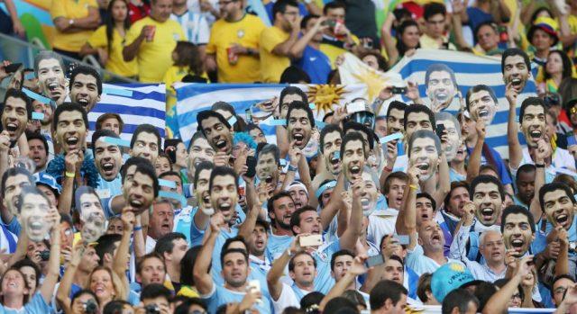 Fans With Masks Luis Suarez