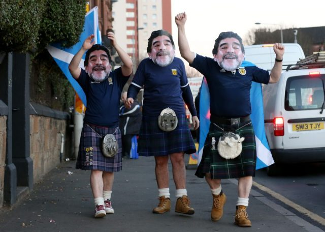 Fans With Masks Diego Maradona