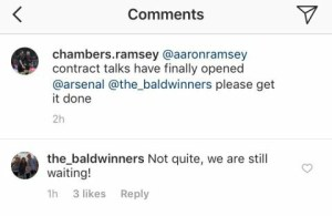 Aaron Ramsey Agent Replying To Arsenal Fan