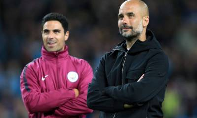 MIKEL ARTETA AND PEP GUARDIOLA