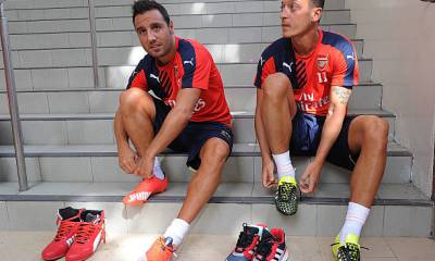SANTI CAZORLA AND MESUT OZIL