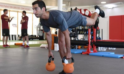 Mkhitaryan In Training