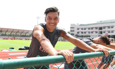 Arsenal midfielder Mesut Ozil in Singapore