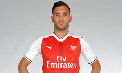 Arsenal striker Lucas Perez