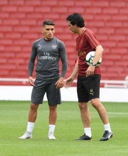 Unai Emery and Lucas Torreira