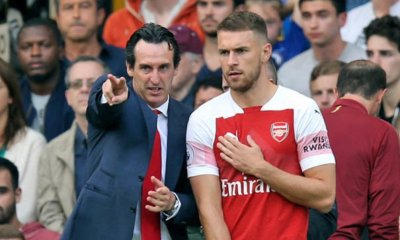 Aaron Ramsey and Unai Emery