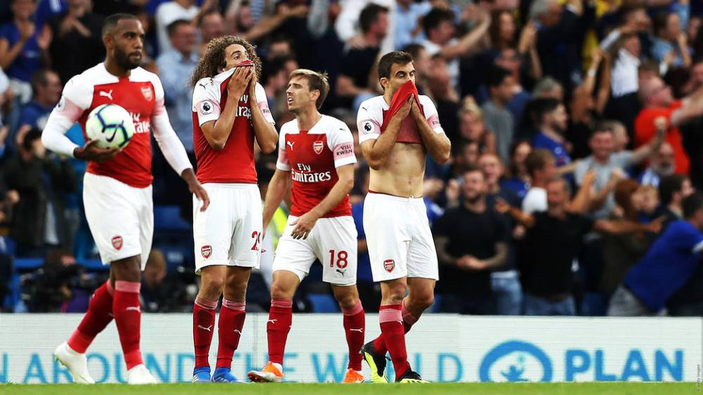 Arsenal players after Chelsea match