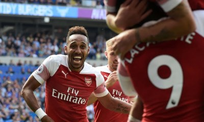 Aubameyang and Lacazette Vs Cardiff