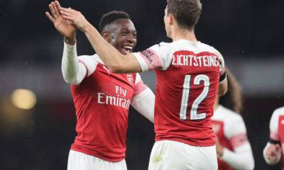 Stephan Lichtsteiner and Danny Welbeck