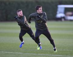 ST ALBANS, ENGLAND - DECEMBER 07: of Arsenal during a training session at London Colney on December 7, 2018 in St Albans, England. (Photo by Stuart MacFarlane/Arsenal FC via Getty Images)