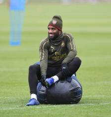 ST ALBANS, ENGLAND - MARCH 30: of Arsenal during a training session at London Colney on March 30, 2019 in St Albans, England. (Photo by Stuart MacFarlane/Arsenal FC via Getty Images)