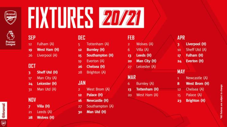 OFFICIAL: release 2020/21 Arsenal Club  full Football their
