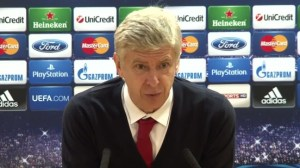 Arsene Wenger Press Conference after Bayern Match