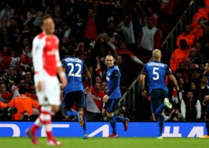 Gunners on brink of Champions League exit