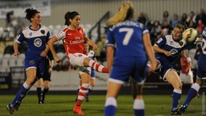 Vicky fires first Gunners goal
