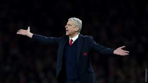 Arsene demonstrates the gaps in the Gunners defence when Barca opened scoring