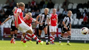 Kelly makes goal scoring return as Arsenal reach last four
