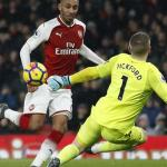 Aaron Ramsey nets a hat-trick as Arsenal put five past Everton