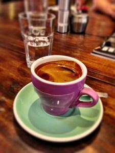 Long black coffee at Coffeehead in Camberwell