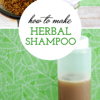 DIY 3 Ingredient Herbal Shampoo